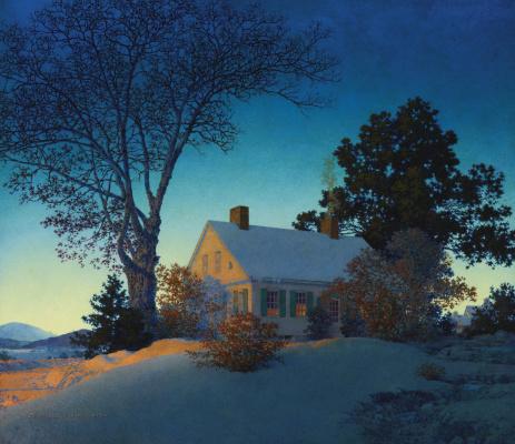 Maxfield Parrish. Winter landscape. Norwich, Vermont
