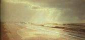 Уильям Трост Ричардс. Пляж с волнами, разрисованными солнцем