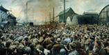 Исаак Израилевич Бродский. Выступление В.И.Ленина на митинге рабочих Путиловского завода в мае 1917 года. 1929