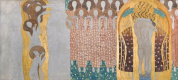 Густав Климт. Искусство, Райский хор, и объятия, деталь Фриза Бетховена