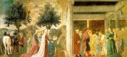 Пьеро делла Франческа. Поклонение Святому Вуду и совещание Соломона и царицы Савской