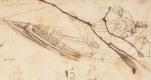 Леонардо да Винчи. Чертеж лодки