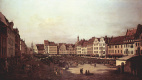 Giovanni Antonio Canal (Canaletto). View of Dresden, the old market from the side of Sea lane