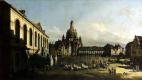 Бернардо Беллотто. Площадь Нового рынка в Дрездене