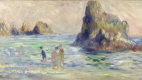 Pierre Auguste Renoir. Rocks in Guernsey