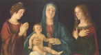Джованни Беллини. Мария с младенцем, Святой Екатериной и Святой Магдалиной