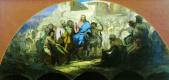Генрих Ипполитович Семирадский. Въезд Иисуса Христа в Иерусалим. Эскиз росписи храма Христа Спасителя в Москве