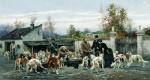Алексей Данилович Кившенко. На псарне. 1884