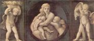 Рафаэль Санти. Алтарь Бальони, центральная часть, пределла с изображениями кардинальных добродетелей. Любовь и два ангела