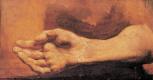 Теодор Жерико. Мужская рука. Этюд