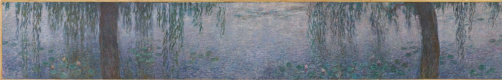 Claude Monet. Water lilies clear morning with willows