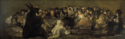Francisco Goya. A large goat or witches Sabbath