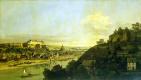 Бернардо Беллотто. Вид Пирны с правого берега Эльбы выше города