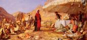 Джон Фредерик Льюис. Лагерь Франка в пустыне горы Синай