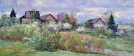 Александр Викторович Шевелёв. Spring in Golocalise.Oil on canvas 25 # 60 cm, 2009