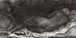 Рембрандт Ван Рейн. Лежащая обнаженная