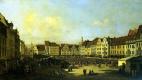 Бернардо Беллотто. Площадь Старого рынка в Дрездене