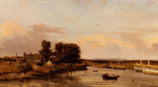 Жюль Дюпре. Лодки у берега