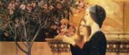 Густав Климт. Две девушки с олеандром