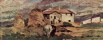 Джованни Фаттори. Пейзаж с крестьянским домом