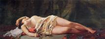 Фредерик Базиль. Лежащая обнаженная
