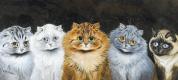Луис Уэйн. Пять кошек, Рыжий во главе