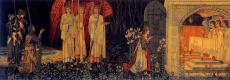 Уильям Моррис. Серия «Поиски Святого Грааля». На коленях перед ангелами и Святым Граалем (Совместно с Эдвардом Бёрн-Джонсом)