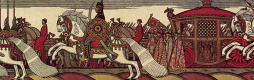 "Ivan Yakovlevich Bilibin. Dadonovo army. U-turn. Illustration to ""The Tale of the Golden Cockerel"" by A. S. Pushkin. Fragment"