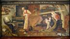 Форд Мэдокс Браун. Вильям Крэтби наблюдает за проходом Венеры, 1639 год. Фреска мурала здания Манчестерской ратуши
