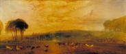 Джозеф Мэллорд Уильям Тёрнер. Озеро, Петуорт: закат, бодающиеся олени