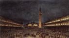 Франческо Гварди. Ночное шествие на площади Сан-Марко