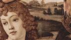 Сандро Боттичелли. Мадонна, сцена: Мария с младенцем Христом и пятью ангелами, тондо, деталь