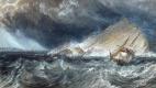 Джозеф Мэллорд Уильям Тёрнер. Корабль у Чаячьей скалы в заливе Плимут Саунд (фрагмент)