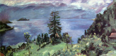 Ловис Коринт. Панорама озера Вальхен, вид из церкви