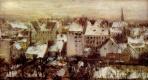 Адольф фон Менцель. Задние дворы в Берлине в снегу