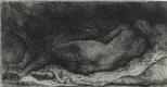 Рембрандт Харменс ван Рейн. Лежащая обнаженная