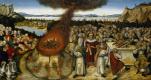Лукас Кранах Младший. Пророк Илия и жрецы Ваала. 1545