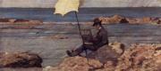 Джованни Фаттори. Сильвестро Лега, рисующий в Рива аль Маре