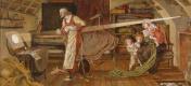 Форд Мэдокс Браун. Вильям Крэтби наблюдает за проходом Венеры (эскиз для фрески)