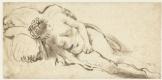 Рембрандт Харменс ван Рейн. Спящая обнаженная натурщица