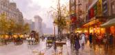 Эдуард Леон Кортес. Бульвар в Париже