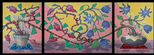 Yuri Vladimirovich Sizonenko. Triptych : Floral kiss.
