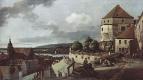 Джованни Антонио Каналь (Каналетто). Вид Пирны, Пирна, вид со стороны крепости Зонненшайн