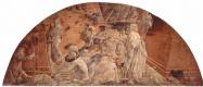 Паоло Уччелло. Цикл фресок на темы Ветхого завета в крытой галерее Санта Мария Новелла во Флоренции, сцены в люнете: Потоп и Ковчег