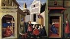Фра Беато Анджелико. Алтарь Перуджи (Триптих из Перуджи). Сцены из жизни Святого Николая: рождение и предоставление приданого