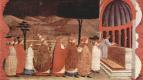 Паоло Уччелло. Легенда о причастии. Просфора переностся в церковь для вторичного освящения
