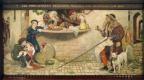 Форд Мэдокс Браун. Прокламация о весах и мерах 1556 года. Фреска мурала здания Манчестерской ратуши