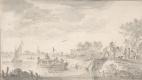 Ян ван Гойен. Речной пейзаж с буксиром