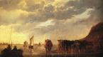 Альберт Кейп. Пастух с коровами у реки