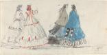 Эжен Буден. Четыре дамы в кринолинах прогуливаются в Трувиле